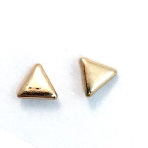 Minimalist Gold Triangle Studs